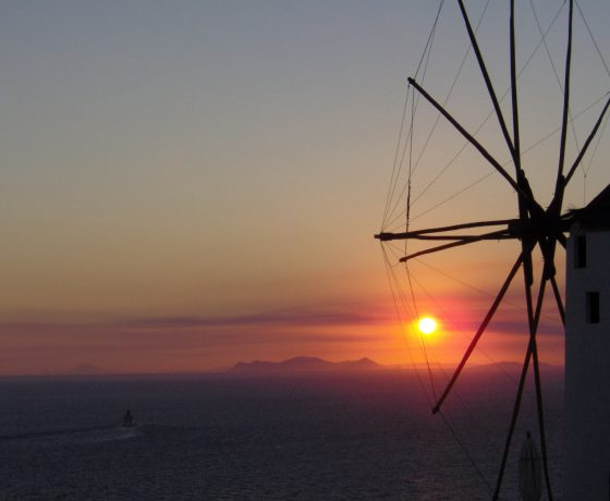 Sunset Oia i-Santorini