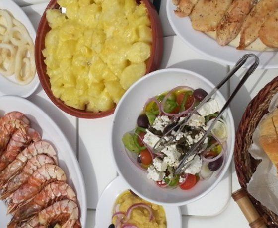 Seafood buffet Barca Santorini