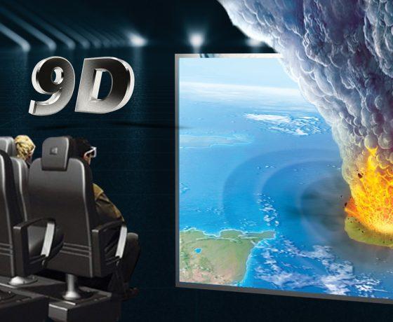 3D experience in Lost Atlantis Museum. Santorini